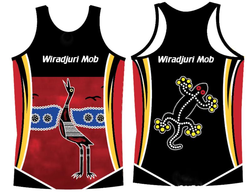 Aboriginal Brolga Singlet