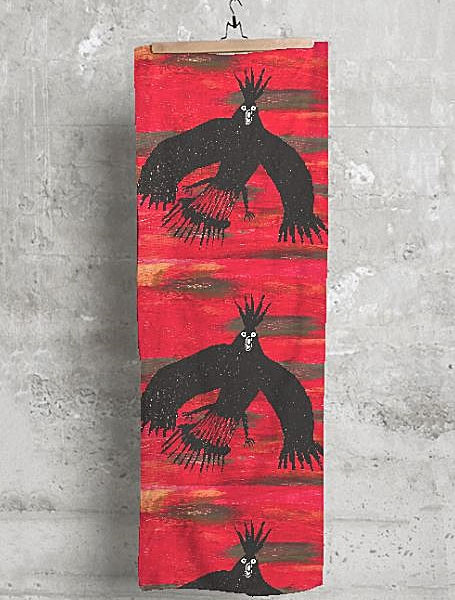 Aboriginal Scarves Black Cockatoo
