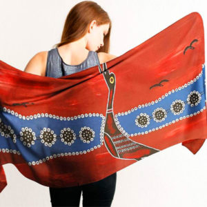 Aboriginal Scarves Brolga Bird