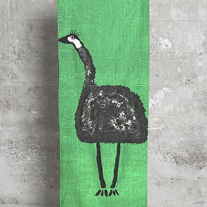 Aboriginal Scarves Emu on Grass